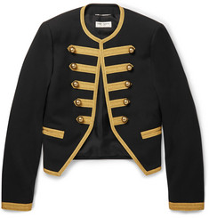 Saint Laurent Wool-Gabardine Military Jacket