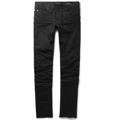 Saint Laurent Slim-Fit 15.5cm Raw-Hem Denim Jeans