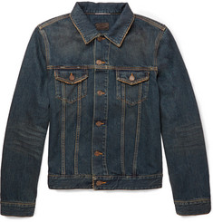 Saint Laurent Distressed Washed-Denim Jacket