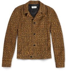Saint Laurent - Slim-Fit Leopard-Print Suede Jacket