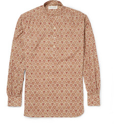 Saint Laurent Paisley-Patterned Cotton Grandad-Collar Shirt
