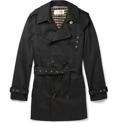 Saint Laurent Double-Breasted Twill Trench Coat