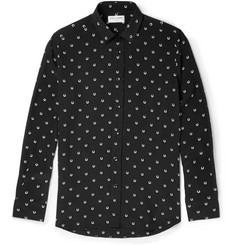 Saint Laurent Horseshoe-Print Silk Shirt