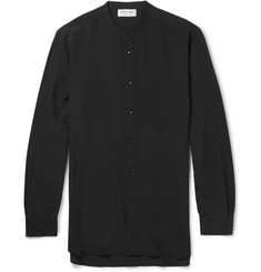 Saint Laurent Collarless Silk Shirt