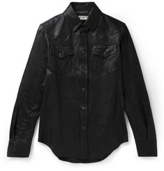 Saint Laurent Leather Western Shirt