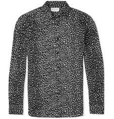 Saint Laurent Slim-Fit Babycat-Printed Cotton Shirt