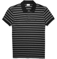 Saint Laurent - Striped Cotton Polo Shirt