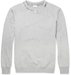 Saint Laurent Zip-Detailed Cotton-Blend Sweatshirt