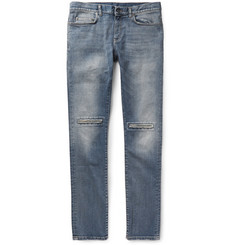 Saint Laurent Slim-Fit 15.5cm Hem Ripped Denim Jeans