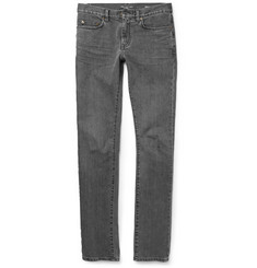 Saint Laurent Slim-Fit 15.5cm Hem Washed-Denim Jeans