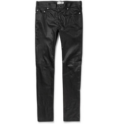 Saint Laurent - Slim-Fit Leather Trousers