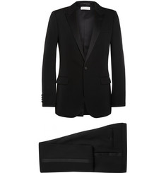Saint Laurent - Black Satin-Trimmed Virgin Wool Tuxedo