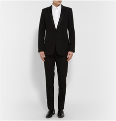 Saint Laurent Black Satin-Trimmed Virgin Wool Tuxedo
