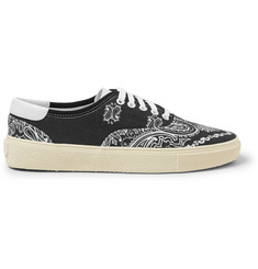 Saint Laurent Leather-Trimmed Printed Canvas Sneakers