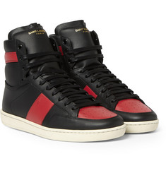Saint Laurent SL10H Leather High Top Sneakers