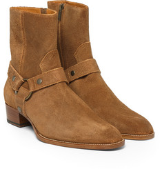 Saint Laurent - Suede Harness Boots
