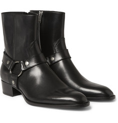 Saint Laurent Leather Harness Boots