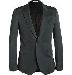Paul Smith Green Slim-Fit Cotton and Silk-Blend Blazer