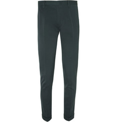 Paul Smith Green Slim-Fit Cotton and Silk-Blend Suit Trousers