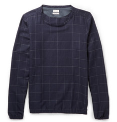 Paul Smith Checked Cotton and Wool-Blend Sweater