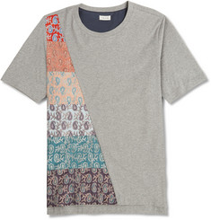 Paul Smith Paisley-Panelled Cotton-Jersey T-shirt