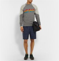 Paul Smith Checked Wool, Linen and Silk-Blend Shorts
