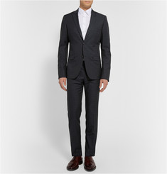 Calvin Klein Collection Navy Crosby Wool, Cotton and Silk-Blend Suit