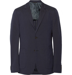 Calvin Klein Collection Thompson Slim-Fit Silk-Seersucker Blazer