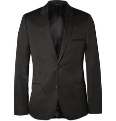 Calvin Klein Collection Black Crosby Slim-Fit Cotton and Silk-Blend Suit Jacket