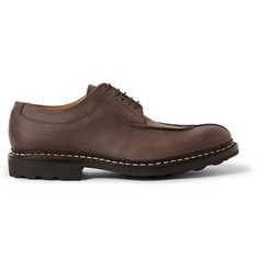 Heschung Ebene Washed-Nubuck Derby Shoes