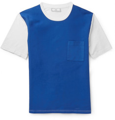 AMI Panelled Cotton-Blend T-Shirt