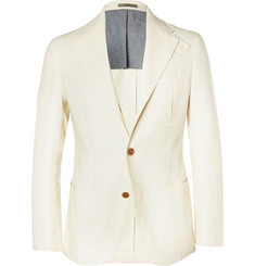 Boglioli Linen and Cotton-Blend Blazer