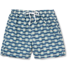 Boglioli Mid-Length Printed Swim Swim Shorts