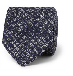 Boglioli Patterned Wool and Silk-Blend Tie