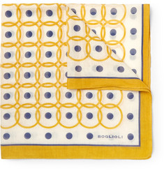 Boglioli Printed Cotton and Silk-Blend Pocket Square