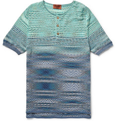 Missoni Striped Cotton Henley T-Shirt