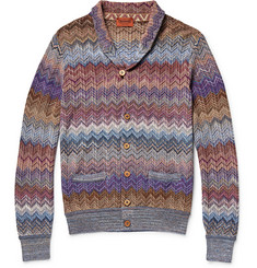 Missoni Zig-Zag Crochet-Knit Shawl-Collar Cardigan