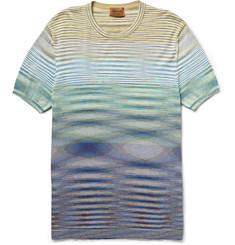 Missoni Striped Knitted-Cotton T-Shirt