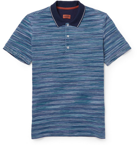 Missoni Knitted-Cotton Polo Shirt