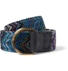 Missoni Reversible 4cm Leather Belt