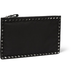 Valentino Studded Woven Pouch