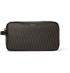 Saint Laurent Toile Monogramme Leather-Trimmed Coated-Canvas Wash Bag