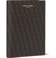 Saint Laurent Faux Textured-Leather Passport Holder