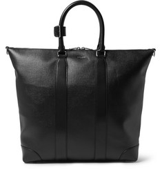 Saint Laurent Coated-Canvas Leather Tote Bag