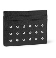 Saint Laurent Studded Grained-Leather Cardholder