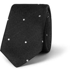Saint Laurent Spotted Silk Tie