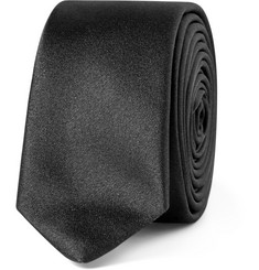 Saint Laurent Black Silk-Satin Tie