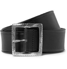 Saint Laurent Black 4cm leather belt