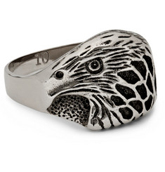 Saint Laurent Silver-Plated Eagle Ring