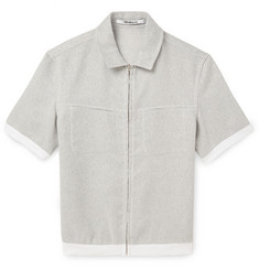 Chalayan Metallic Cotton-Blend Short-Sleeve Shirt